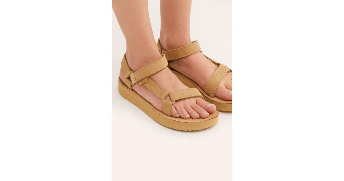 d631295a56e9 Lyst - Free People Teva Midform Universal Leather Sandal in Natural