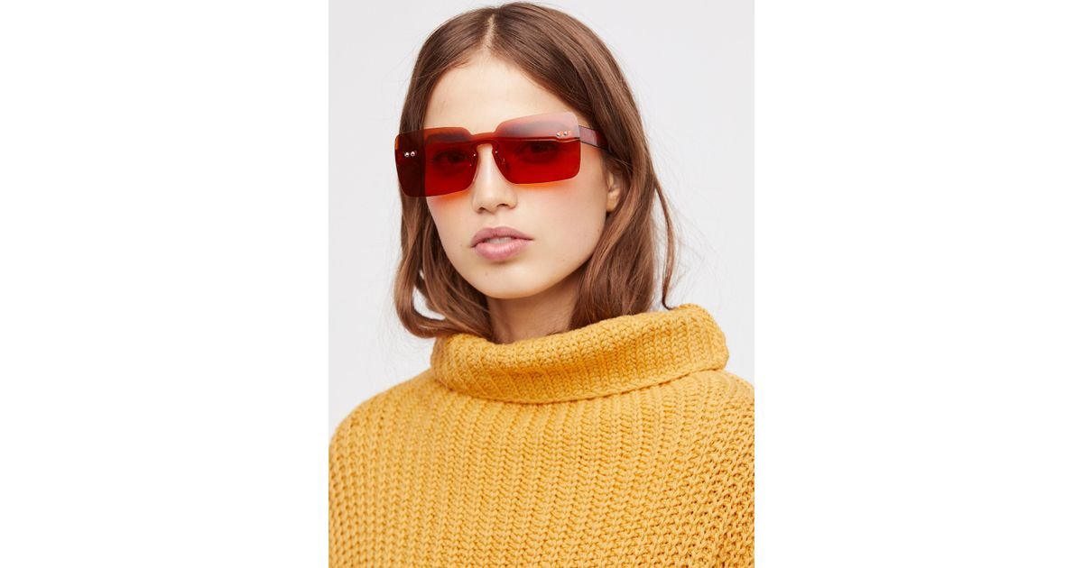 00a50ad1952f Lyst - Free People So Square Shield Sunglasses