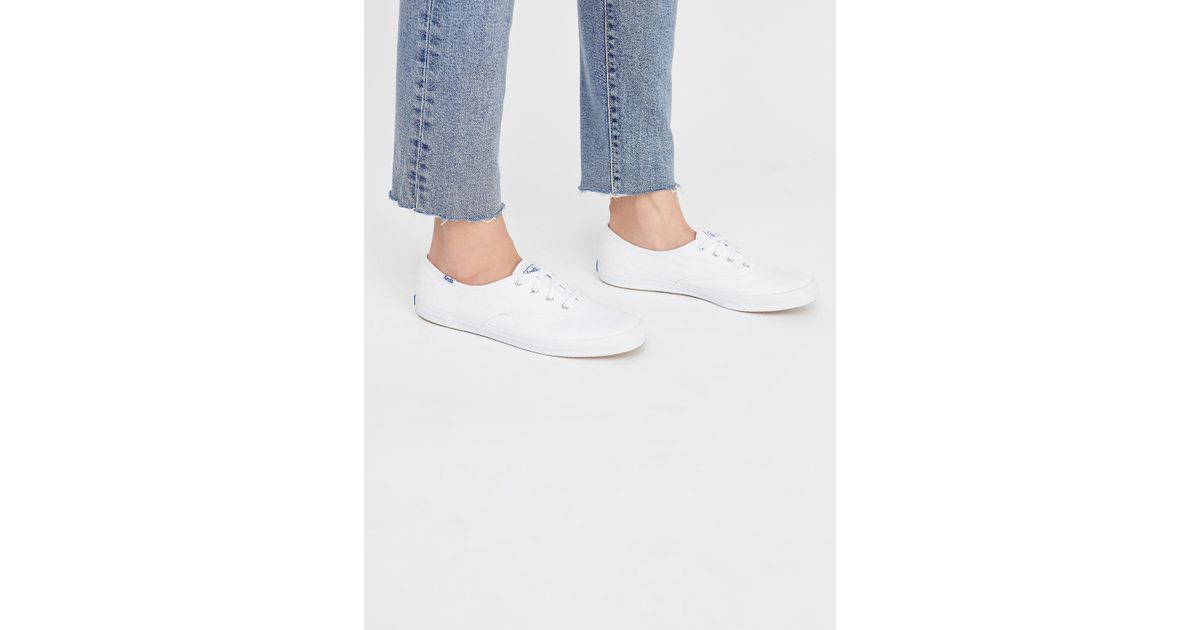 7f750381fb98a Lyst - Free People Keds Champion Sneaker in White
