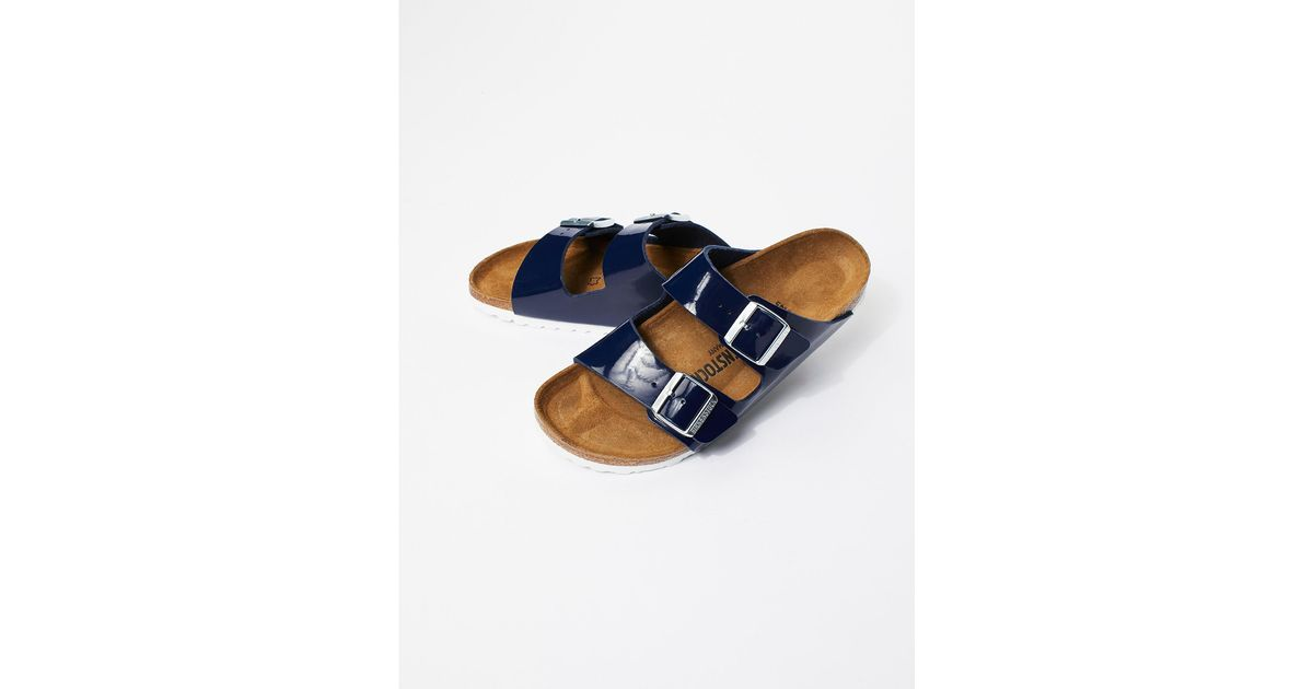 703027c5c8028 Free People Arizona Patent Birkenstock in Blue - Lyst