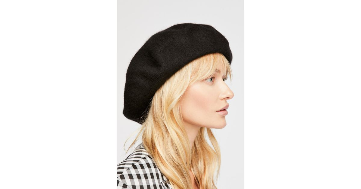 Lyst - Free People Margot Slouchy Beret in Black bdeff6ea0a2