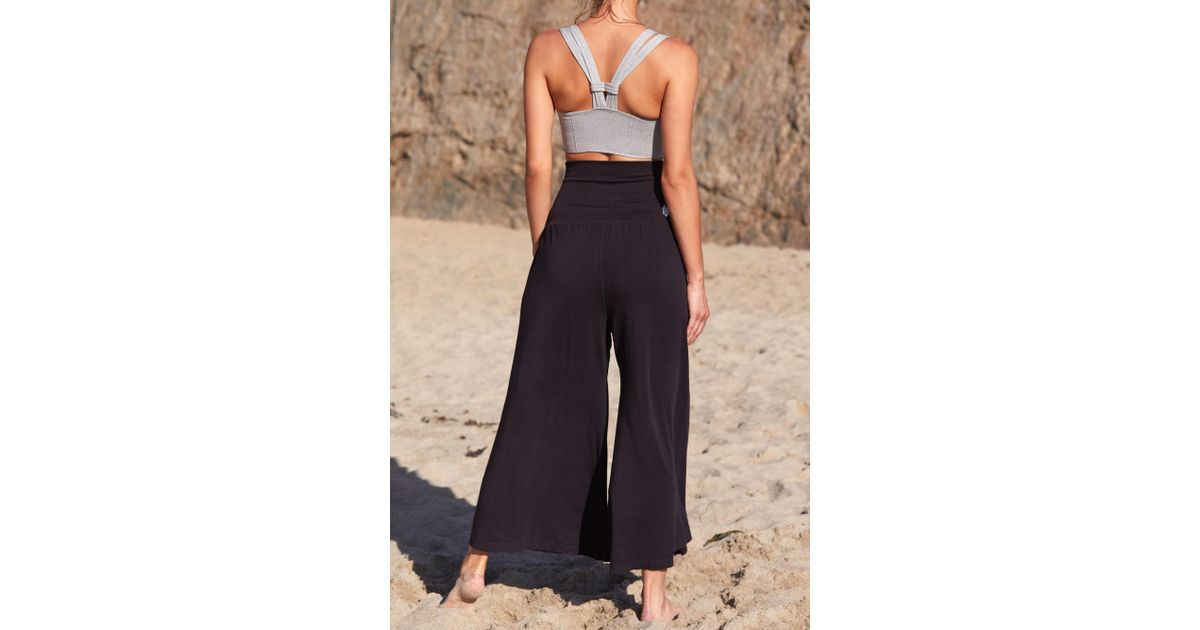 b5e1360c5ae9ee Free People Willow Wide-leg Pant By Fp Movement in Black - Lyst