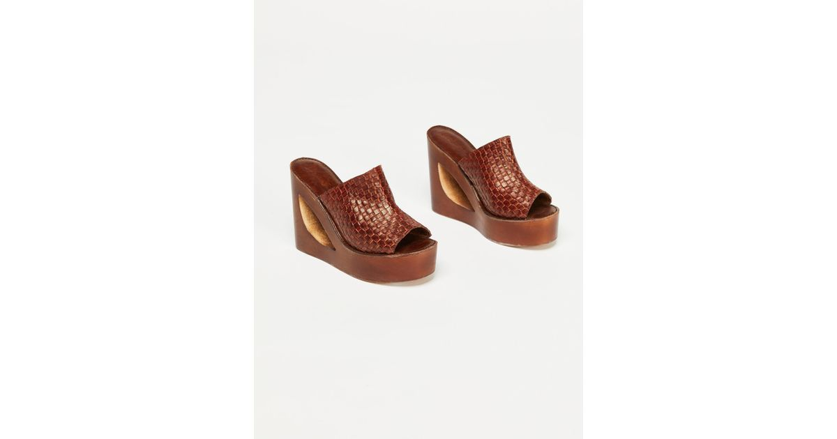 e3bc57e6d09e Lyst - Free People Barela Platform Wedge in Brown
