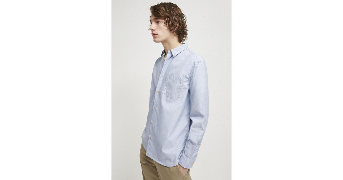 6b22a178bac7d Lyst - French Connection End On End Loose Collared Shirt in Blue for Men