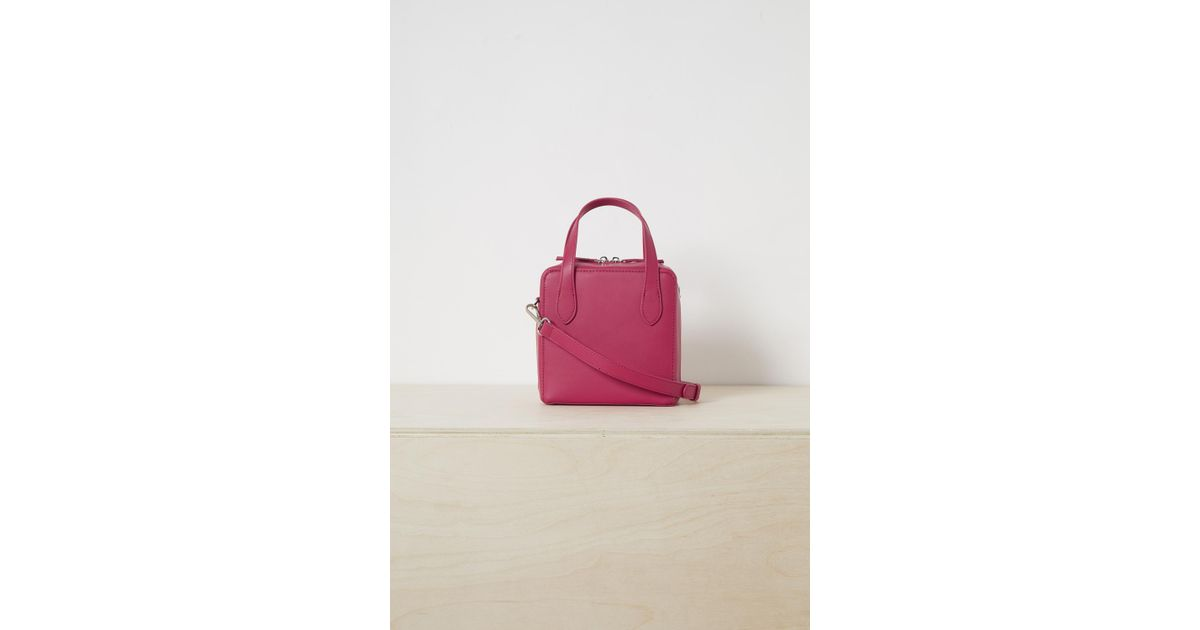 368cd0712 Lyst - French Connection Lula Recycled Leather Crossbody Bag in Pink