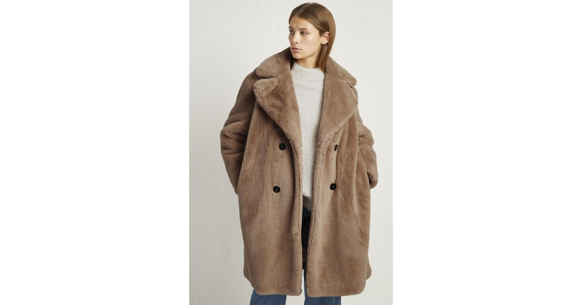 6e198f7ef4 French Connection Annie Faux Shearling Coat - Lyst