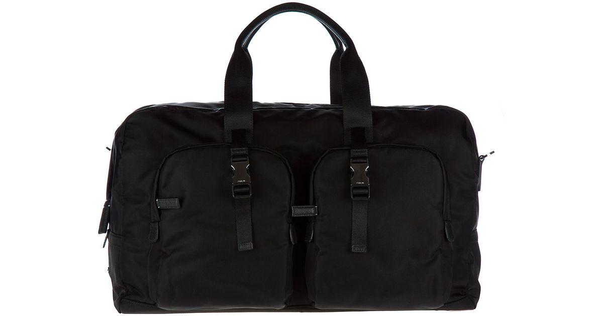 Lyst - Prada Travel Duffle Weekend Shoulder Bag Nylon in Black for Men 2451d00f1bbe2