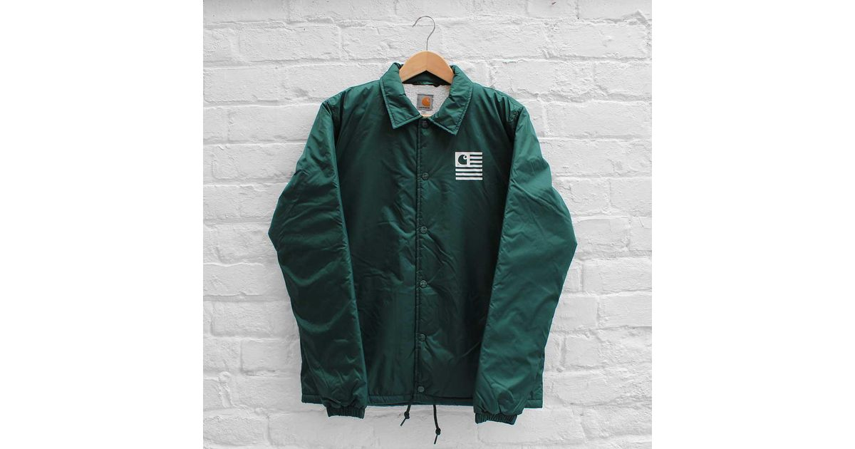 1b0d1074 Carhartt Wip State Pile Coach Jacket in Green for Men - Lyst