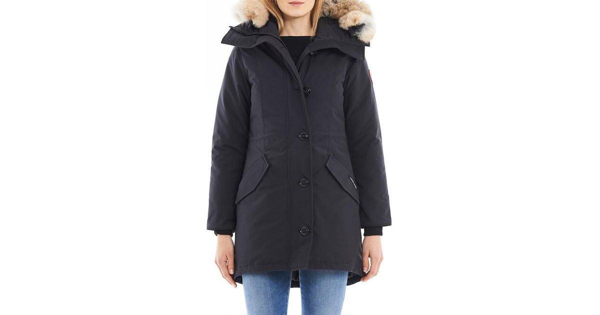 Canada Goose Blue Parka Rossclair coupe fusion Lyst