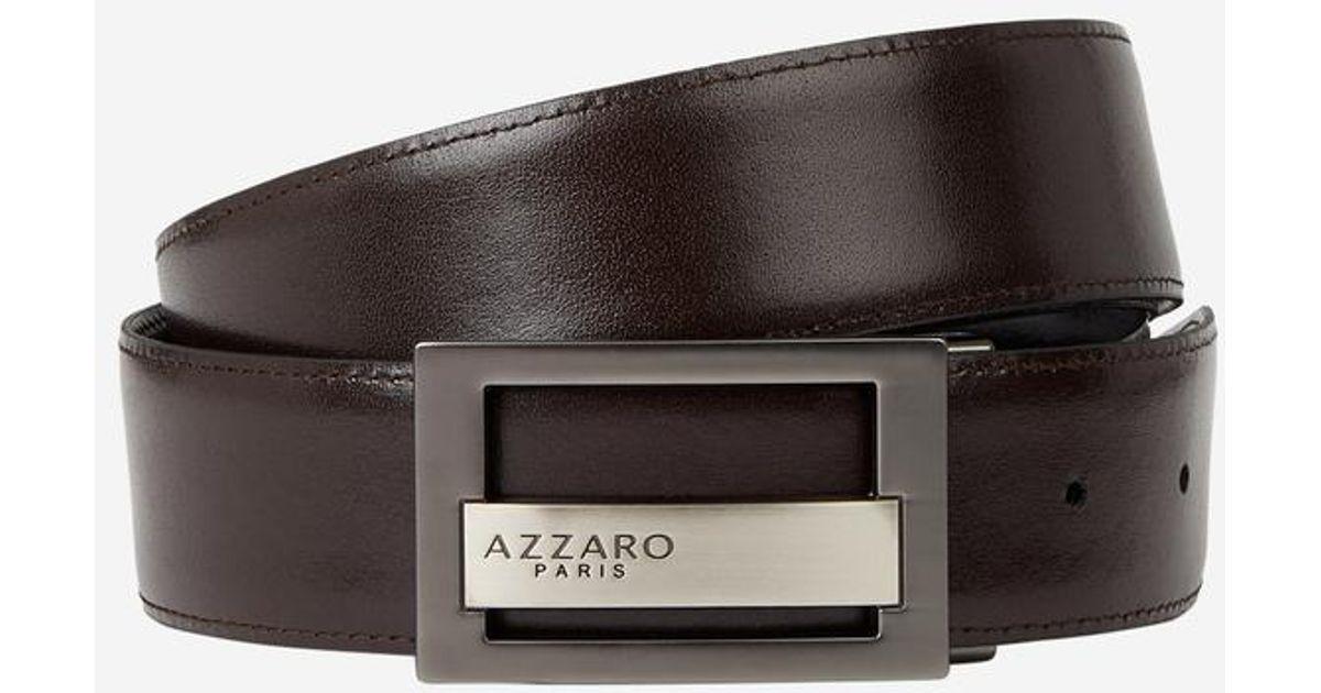 Lyst - Coffret ceinture cuir réversible doubles boucles Azzaro pour homme 4dc832743c3