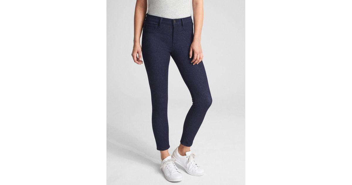 Lyst - Gap Soft Wear Mid Rise Knit Favorite Jeggings in Blue df700722c3