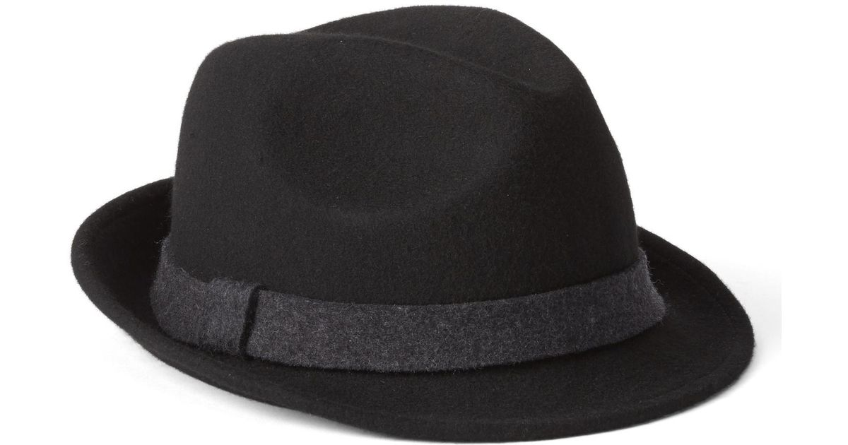 Lyst - Gap Wool Fedora in Black for Men ca5c9debcfc
