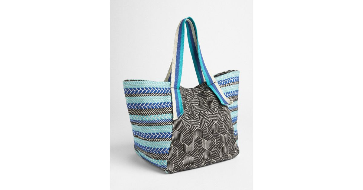 Lyst - Gap Woven Fabric Beach Tote in Blue a43be0240d15