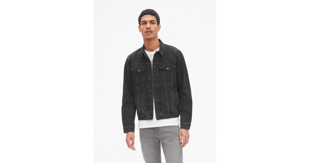 picked up hot sale online newest Gap Black Icon Denim Jacket for men