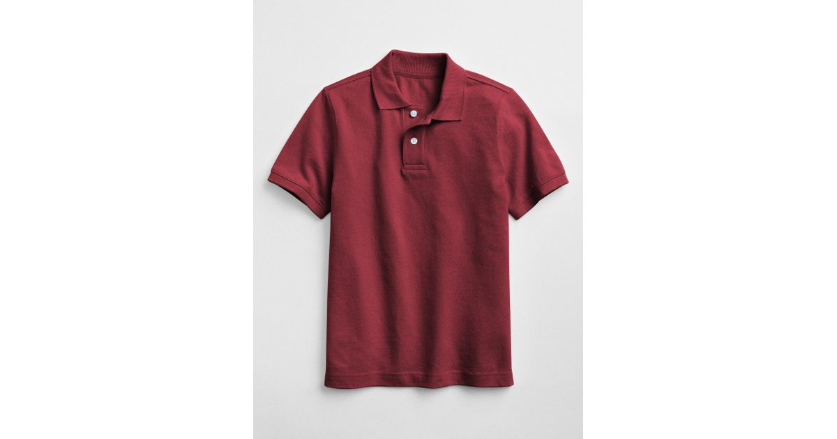 40ea3697 Lyst - Gap Factory Uniform Short Sleeve Polo Shirt in Red for Men