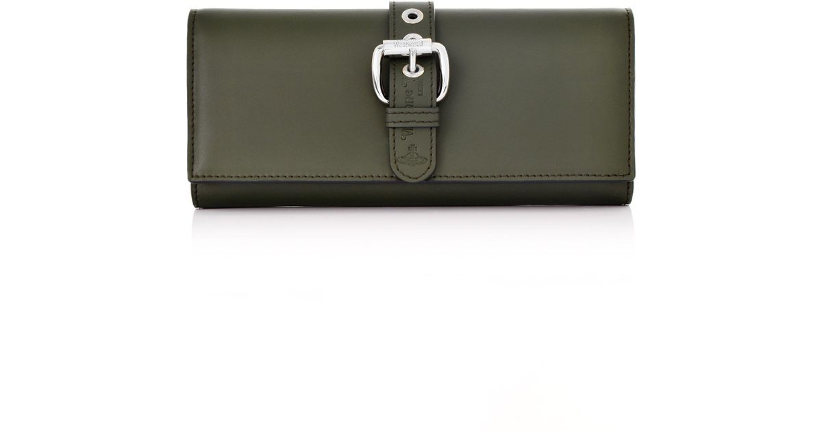 71c10b7eff Lyst - Vivienne Westwood Alex Long Card Purse 51120005 Green in Green