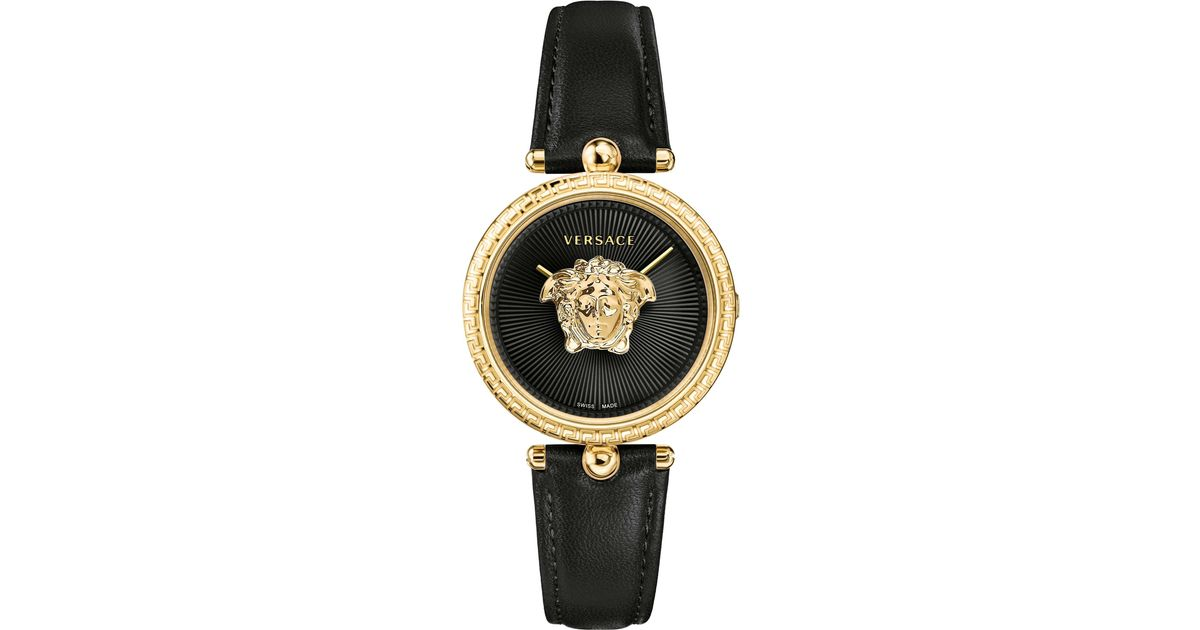 90caf3a80f Versace Palazzo Empire 34mm Watch Black/gold in Metallic for Men - Save 42%  - Lyst