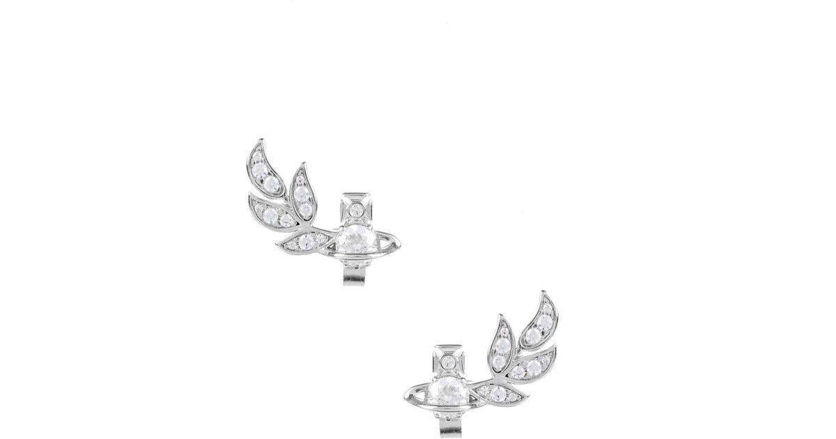 a5d623c21870d Vivienne Westwood - Metallic Amma Stud Earrings Rhodium - Lyst