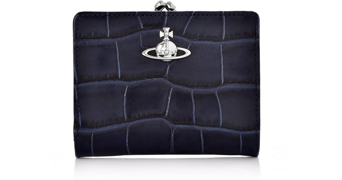 262edee39cb Lyst - Vivienne Westwood Lisa Purse With Frame Pocket 51010020 Blue in Blue  for Men