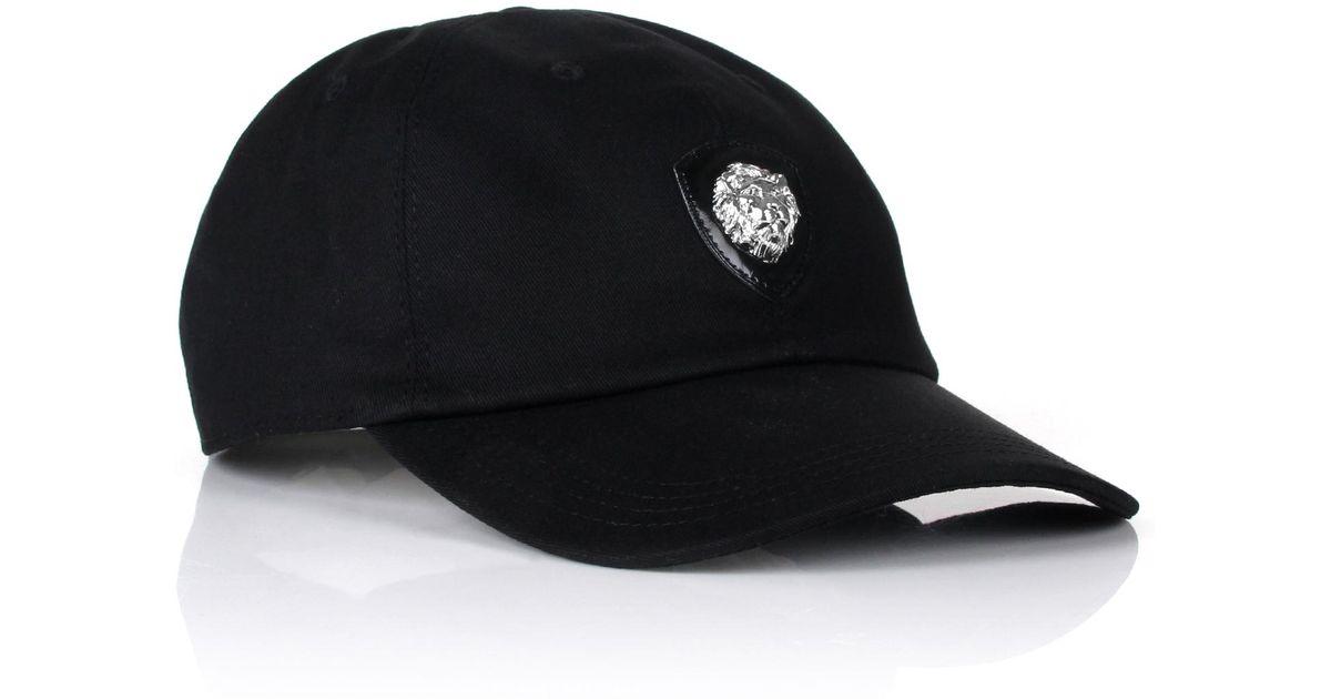 3235be81230 Lyst - Versus Lion Head Badge Baseball Cap Black in Black for Men
