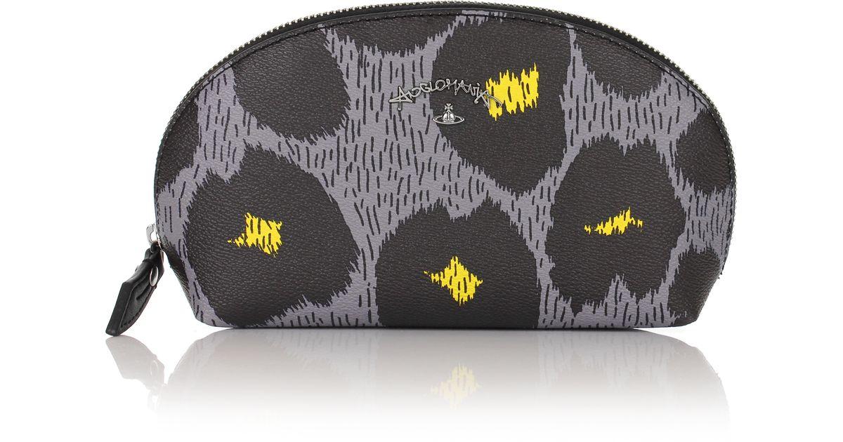 1e70167fff Vivienne Westwood Leopardmania 35084 Make Up Bag Grey in Gray - Lyst