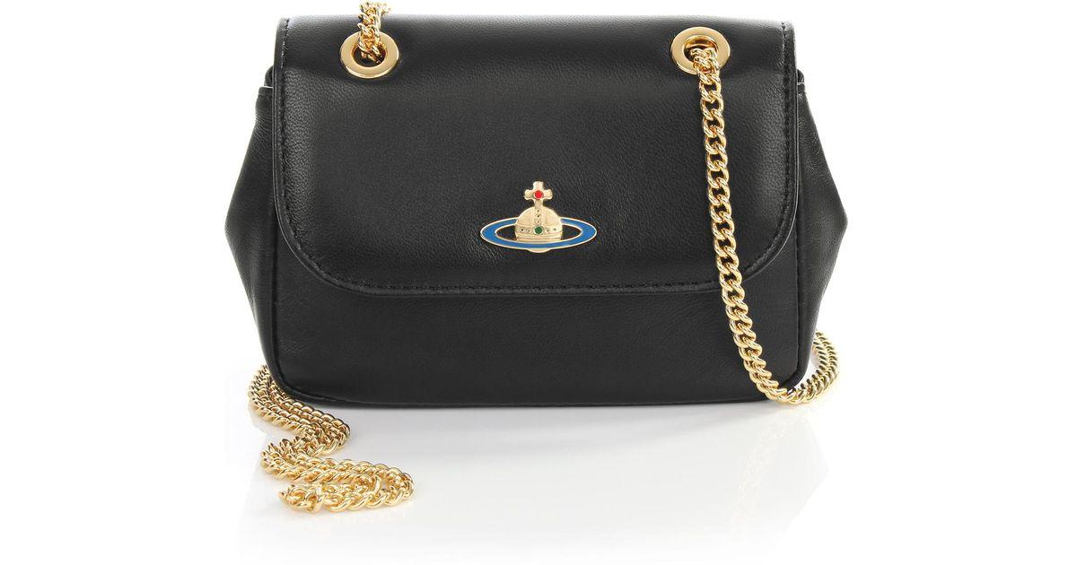 eb0799172655 Vivienne Westwood Nappa 7150 Cross Body Bag Black in Black - Lyst