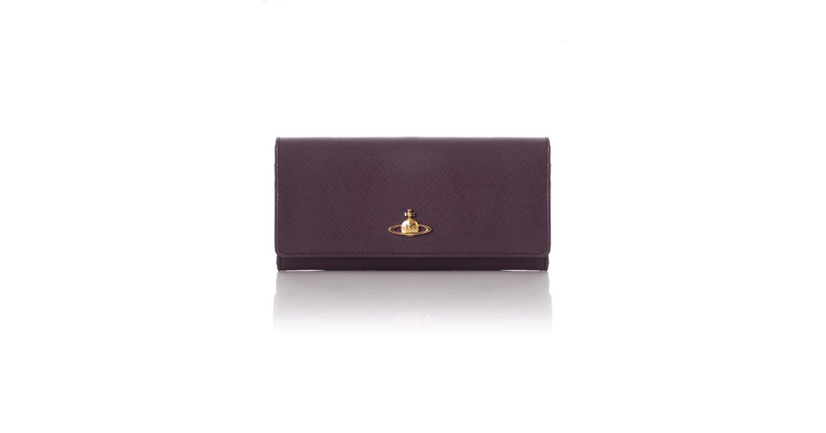 7c3bda4b56d Vivienne Westwood Saffiano 2800 Long Purse Viola in Purple - Lyst