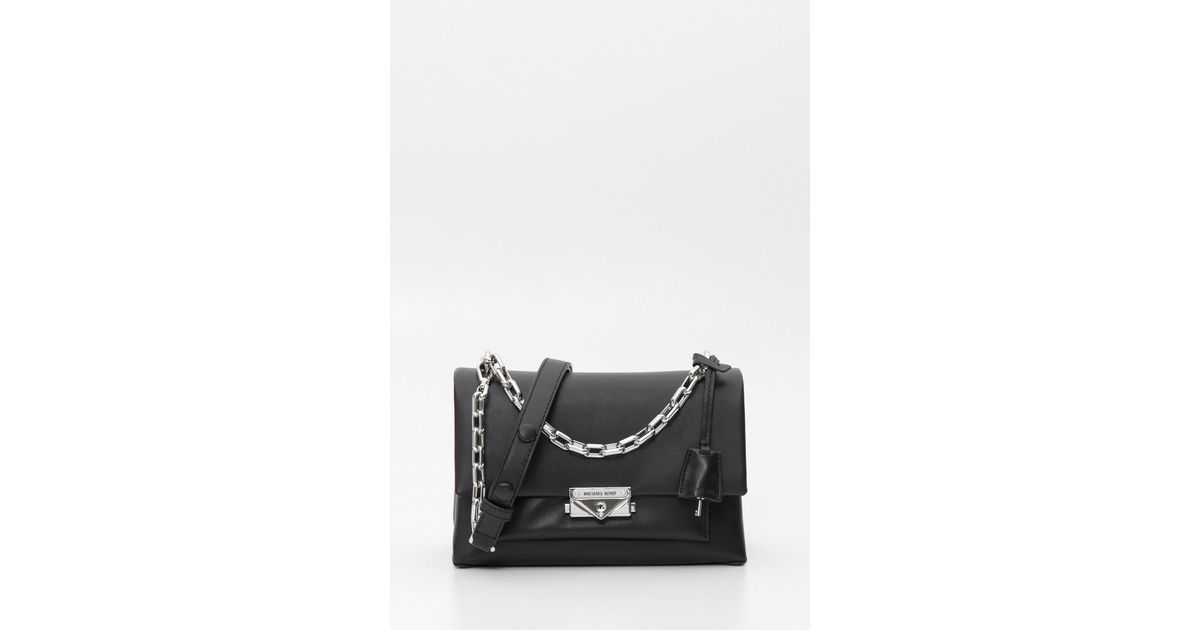 3dc3cf89c8c6 Lyst - MICHAEL Michael Kors Cece Large Leather Shoulder Bag in Black