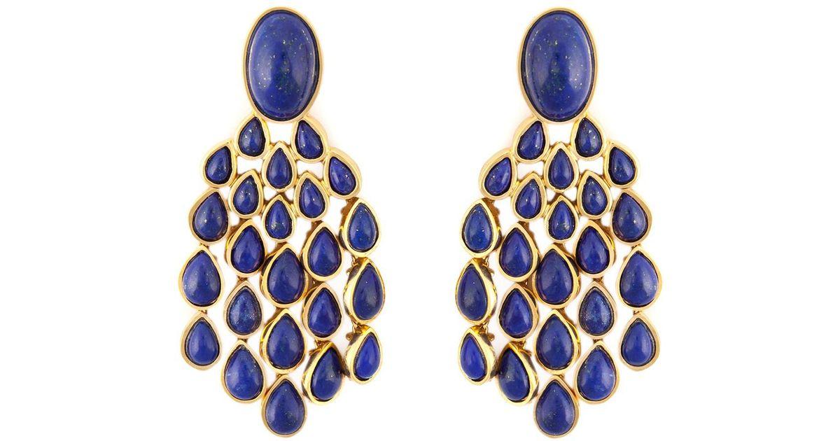 Aurélie Bidermann Cherokee Turquoise Earrings in 18K Gold-Plated Brass sCnMxLQX
