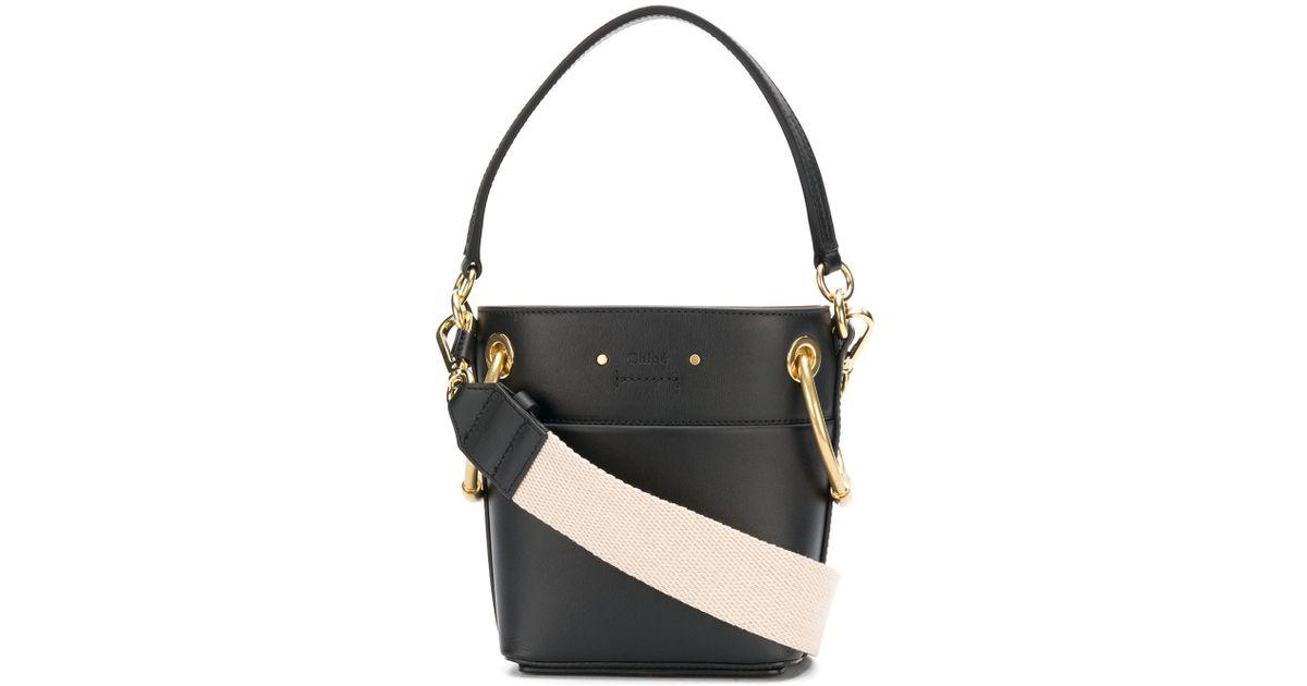 61589b6217b4 Lyst - Chloé Drawstring Top Tote Bag in Black