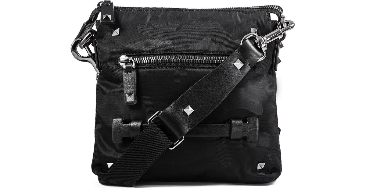 Valentino Camouflage Shoulder Bag in Black for Men - Lyst a31ad0106a55a