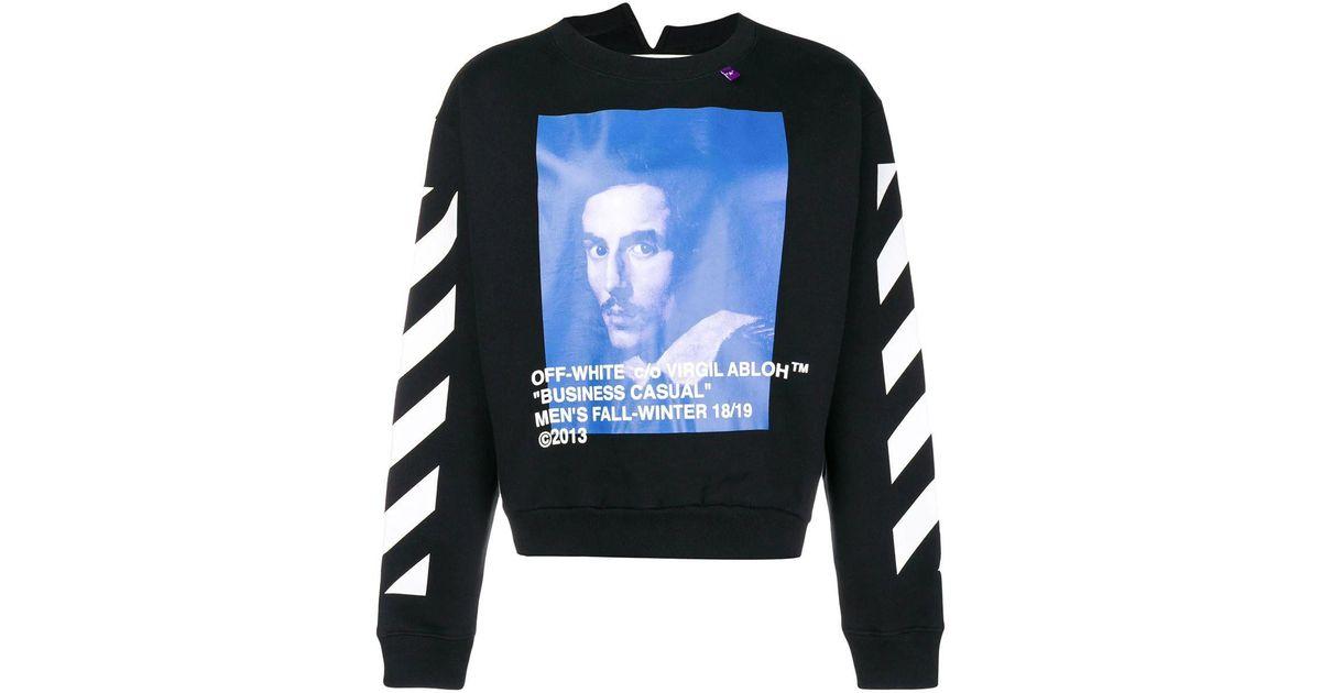 cacfbc81 Off-White c/o Virgil Abloh Bernini Spliced Sweatshirt in Blue for Men - Lyst