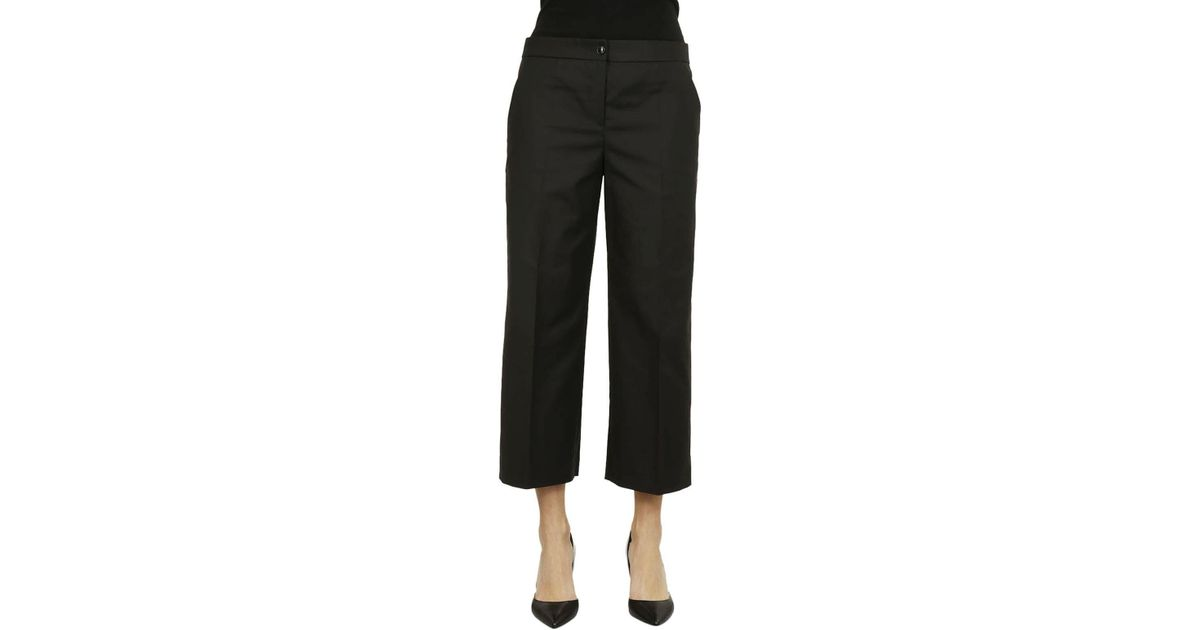 Boutique Moschino Boutique Moschino Pantalone Largo Nero In Black Lyst