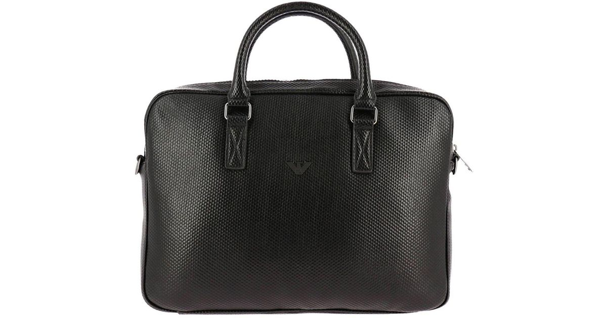 abd9d5e767f8d Lyst - Armani Jeans Bags Men in Black for Men