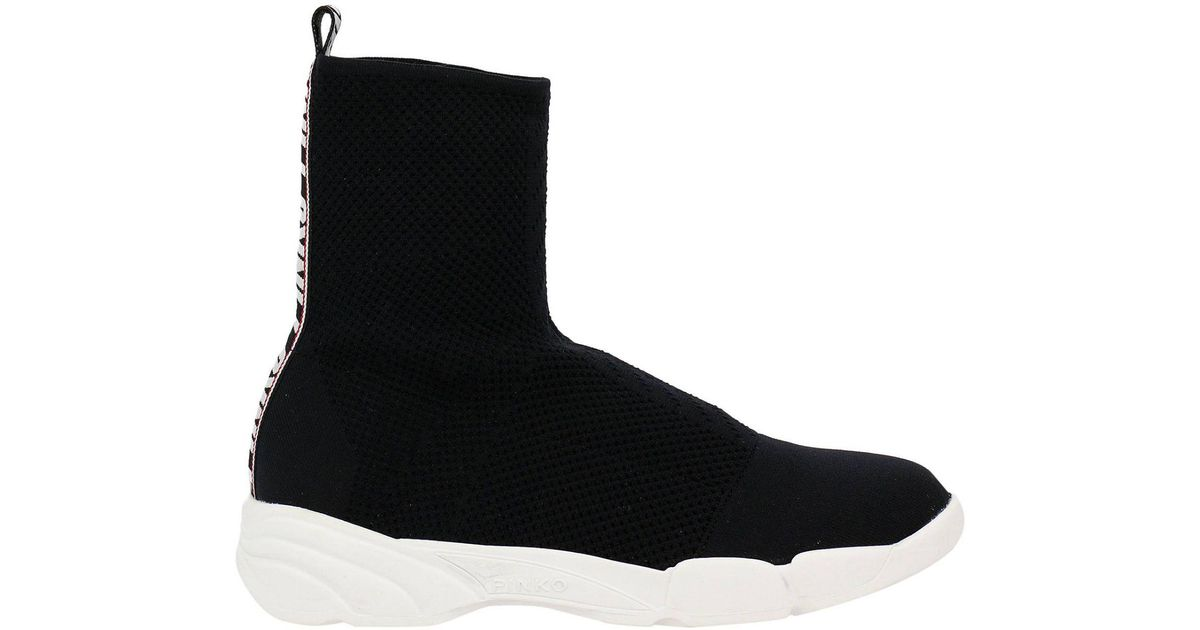 Shoes Shoes Shoes in Women Lyst Pinko Black Sneakers qwfnE7