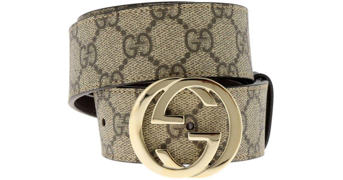 5f757495c Gucci Belt Women in Natural - Lyst