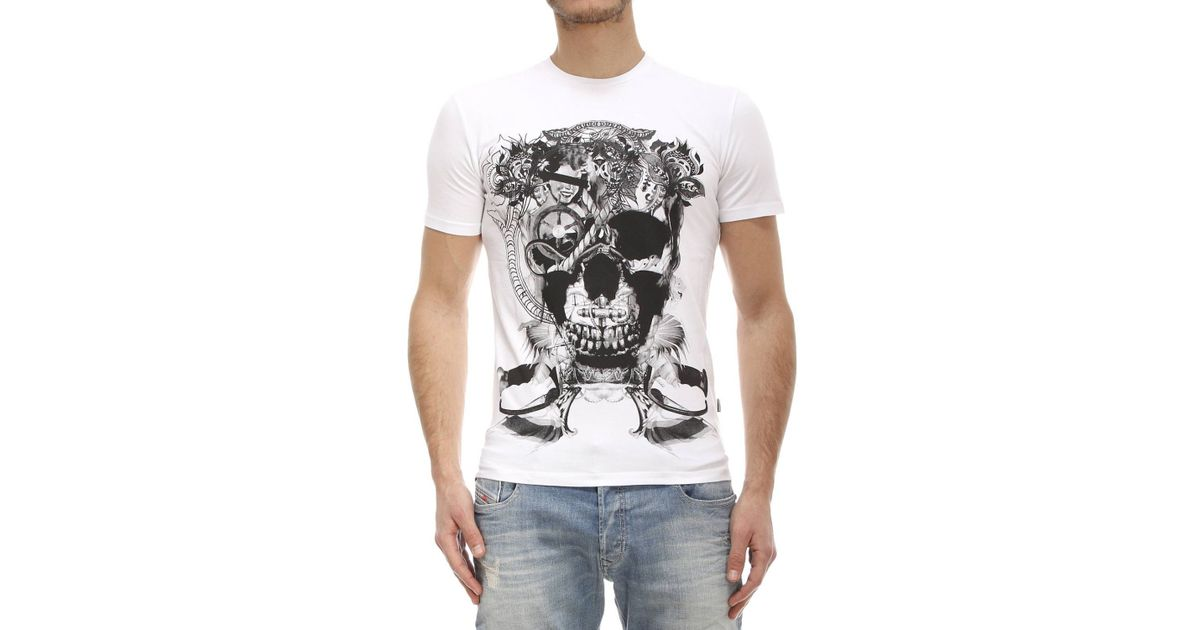 T-shirt maglia girocollo Just Cavalli Uomo man manica con logo corta short sleev