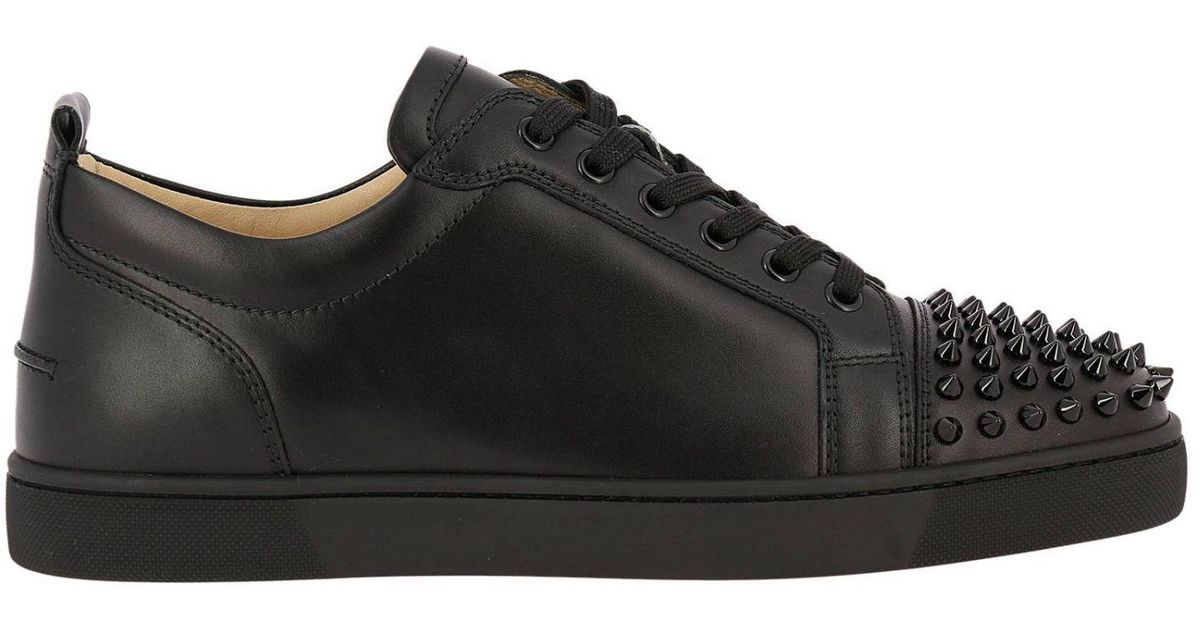 18721f8c0a5 Christian Louboutin Sneakers Shoes Men in Black for Men - Lyst