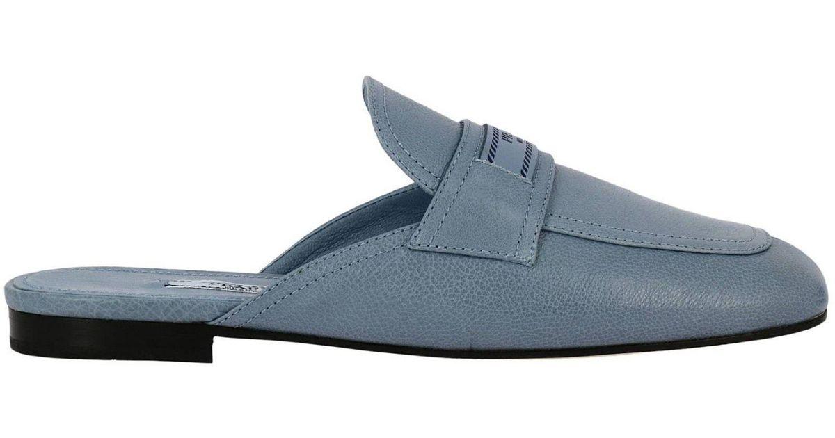 8bcf3f2480 Prada Shoes Women in Blue - Lyst