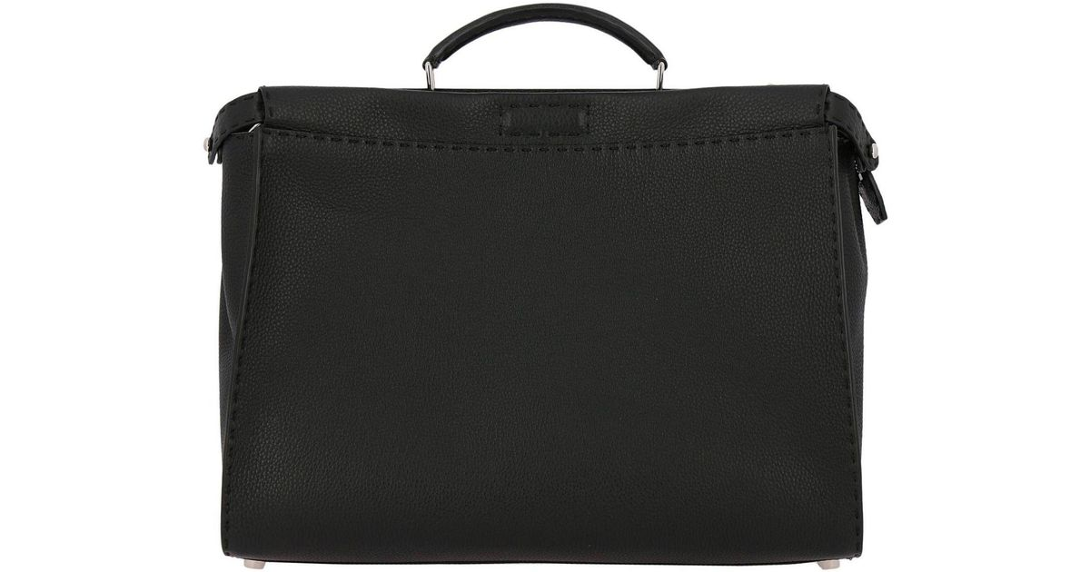 3926940d4acf Lyst - Fendi Monster Eyes Large Peekaboo Bag In Grained Leather With  Internal Eyes Bag Bugs in Black for Men