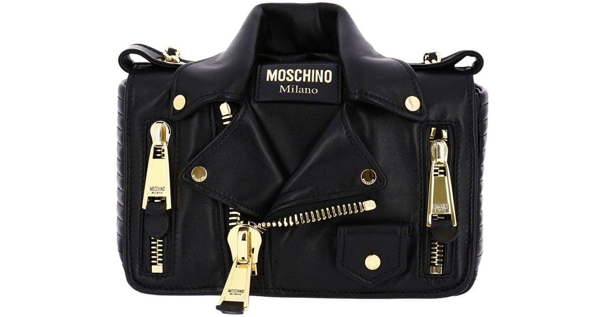 Women In Bag Mini Moschino Shoulder Black Lyst Couture XzUwpRqqx