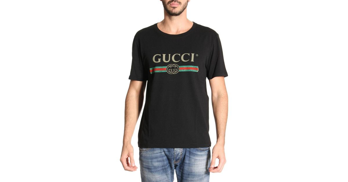 4cbaffe8a Gucci T-shirt Men in Black for Men - Lyst