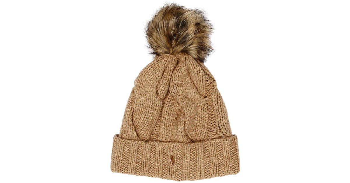 85ccdf0a3c145 Lyst - Polo Ralph Lauren Hat Women in Natural