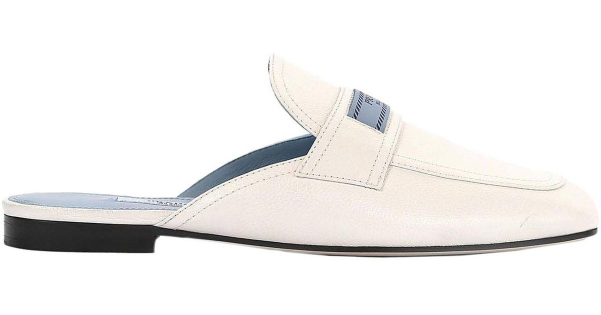 a8b75c6b8b Prada Flat Shoes Women in White - Lyst