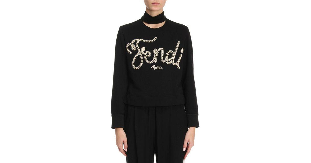 e88f238dd7 Fendi Sweater Women in Black - Lyst