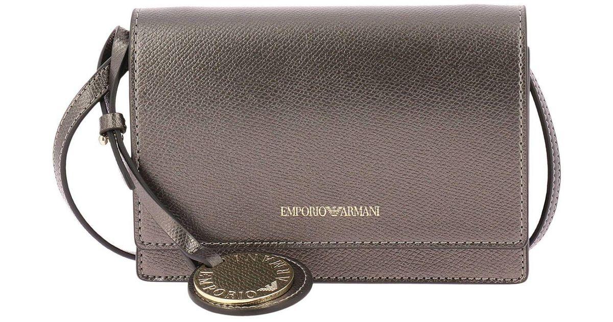 84198ef10c Lyst - Emporio Armani Mini Bag Shoulder Bag Women in Gray