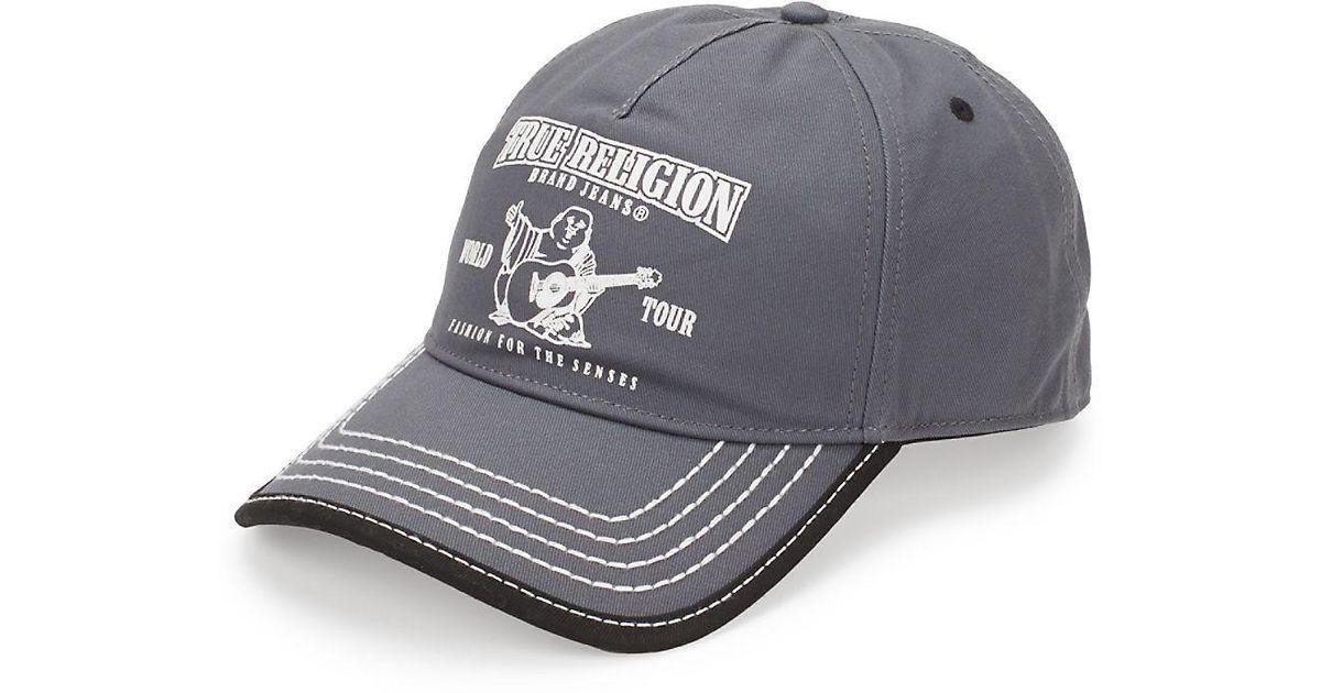 521e5226fadab Lyst - True Religion Puff Buddha Cotton Baseball Cap in Blue for Men