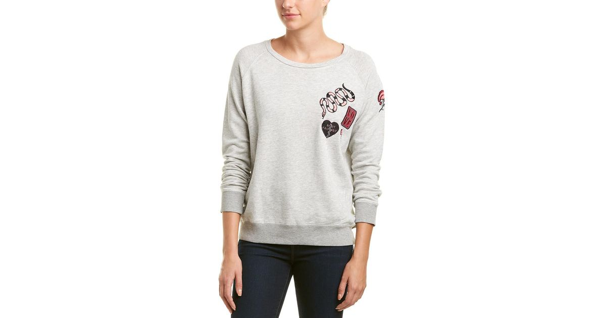0941fd6843 Lyst - David Lerner Patched Raglan Pullover in Gray