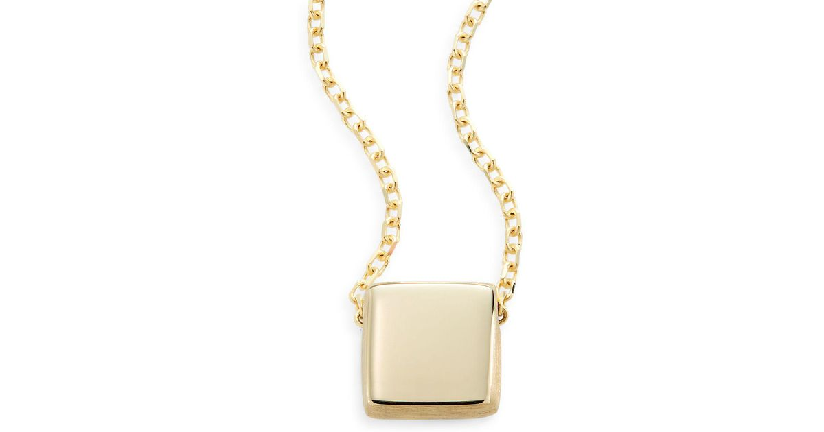zoom fullxfull listing necklace il simple geometric delicate gold square
