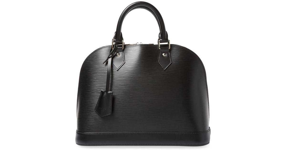 db9064312854 Lyst Louis Vuitton Vintage Black Epi Alma Pm Bag In